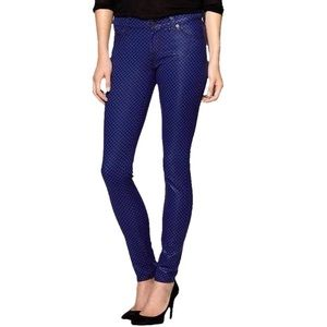 7 For All Mankind ZigZag Wax Shine Skinny Jeans 25